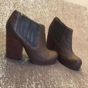 Jeffrey Campbell Clift Distressed Leather Booties